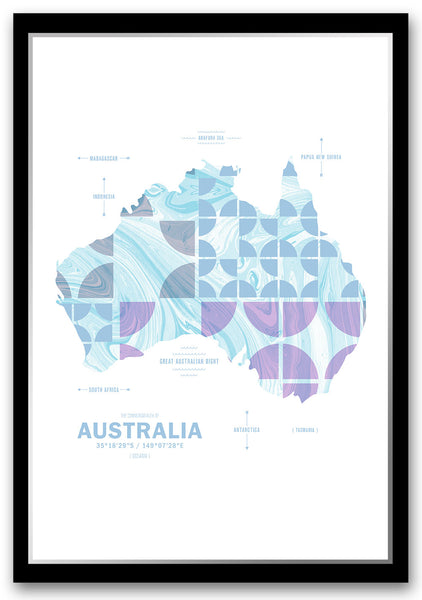 Personalized Australia Map Print Poster