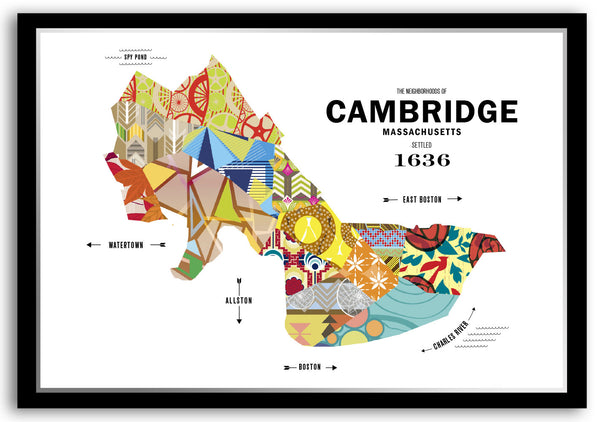 Personalized Cambridge, MA City Map Print