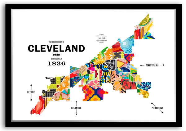 Personalized Cleveland City Map Print