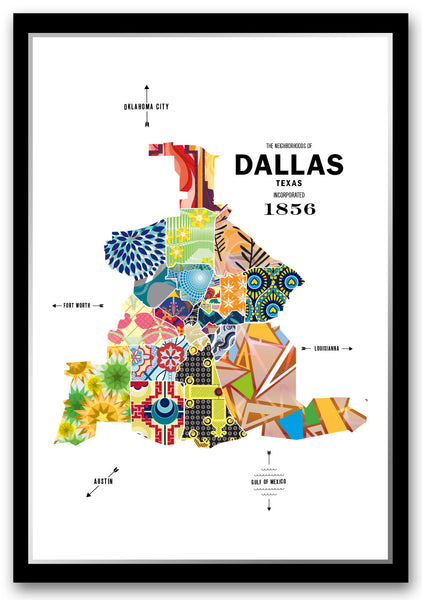 Personalized Dallas City Map Print