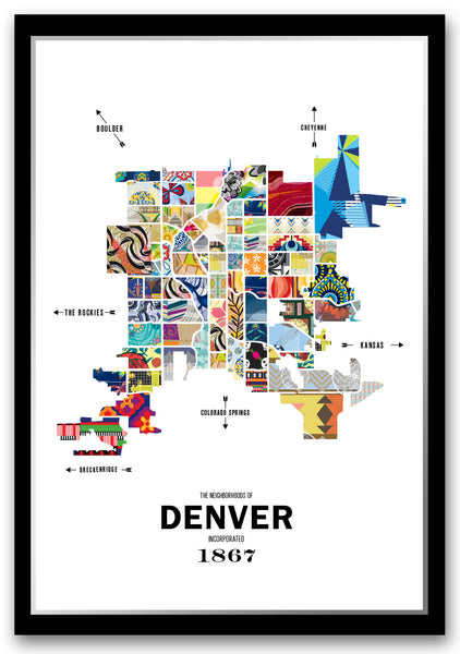 Personalized Denver City Map Print