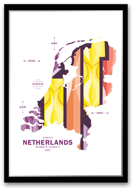 Personalized Netherlands Map Print Poster