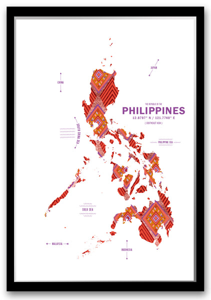 Personalized Philippines Map Print Poster