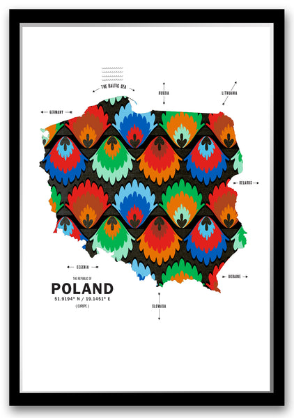 Personalized Poland Map Print Poster