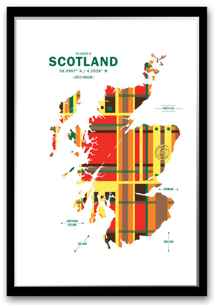 Personalized Scotland Map Print Poster