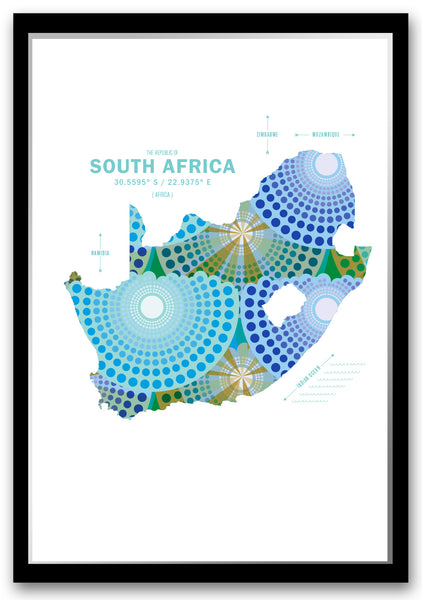 South Africa Map Print Poster
