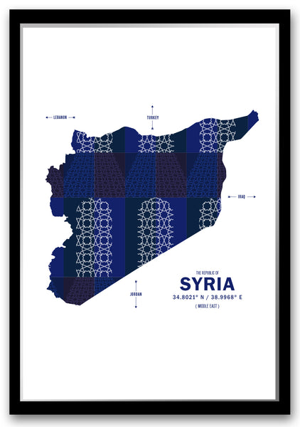 Personalized Syria Map Print Poster