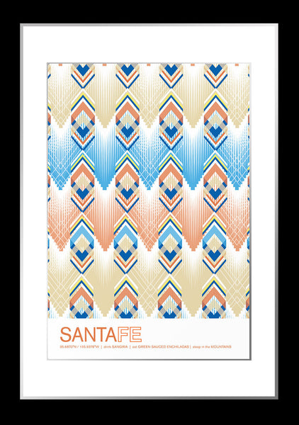 Santa Fe, New Mexico Travel Poster