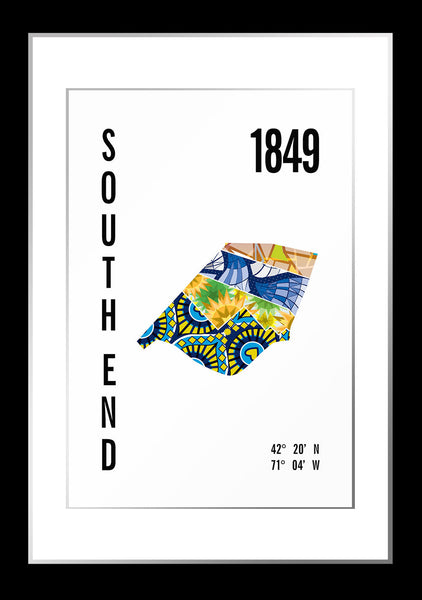 South End Map Print