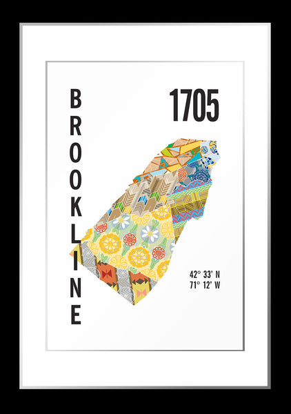 Brookline, MA Map Print