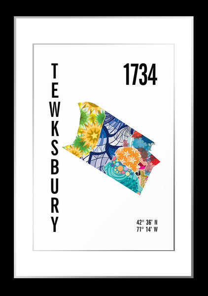 Tewksbury Map Print