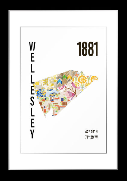 Wellesley Map Print