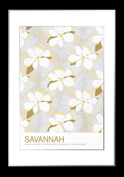 Savannah, Georgia Travel Poster