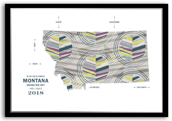 Personalized Montana Map Print Poster