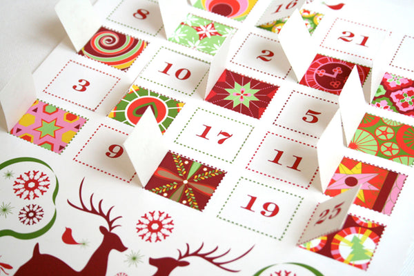 Reindeer Advent Calendar Printable