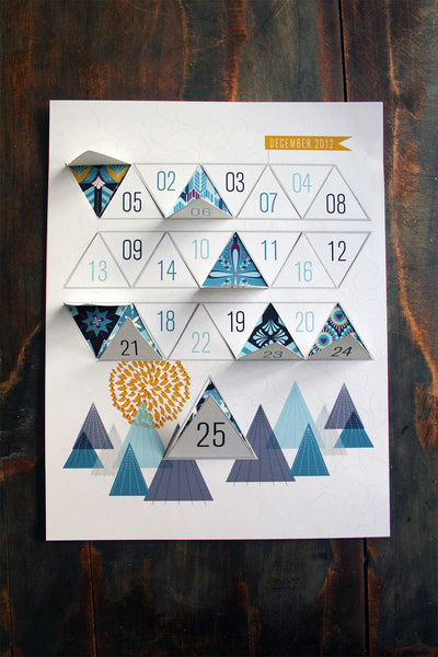 Winter Advent Calendar Printable