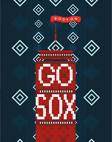 Go Sox! Boston Nightime Print