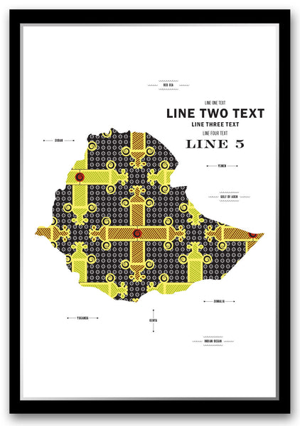 Personalized Ethiopia Map Print Poster