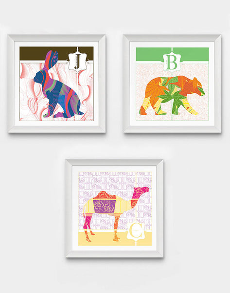 Monogram Nursery Prints