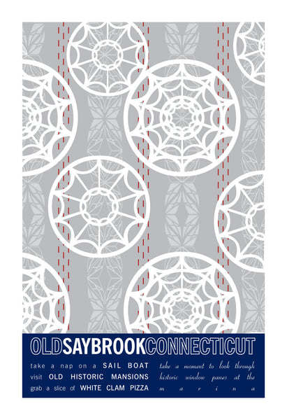 Old Saybrook, Connecticut City Print