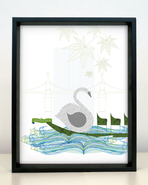 Boston Swan Boat Print