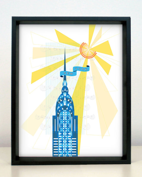 New York City Chrysler Building Print