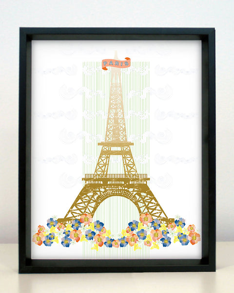Paris Eiffel Tower Print