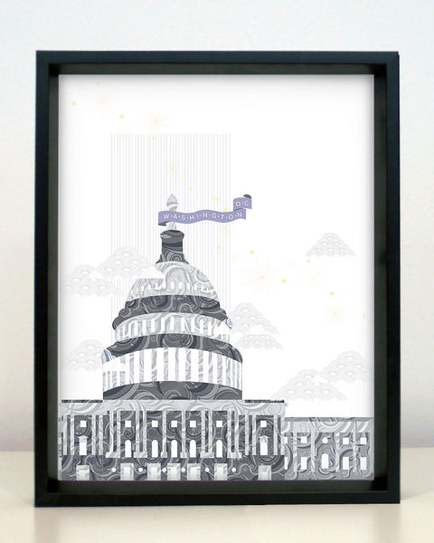 Washington, D.C. Capitol Building Print