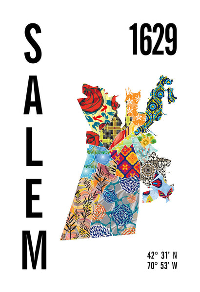 Salem City Map Print