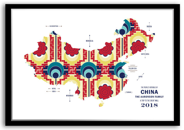 Personalized China Map Print Poster
