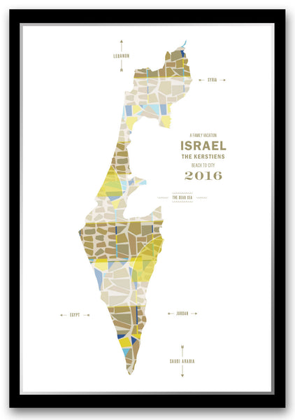 Personalized Israel Map Print Poster