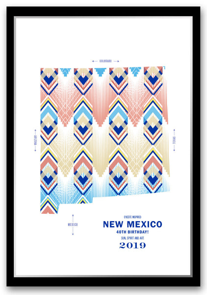 Personalized New Mexico Map Print Poster