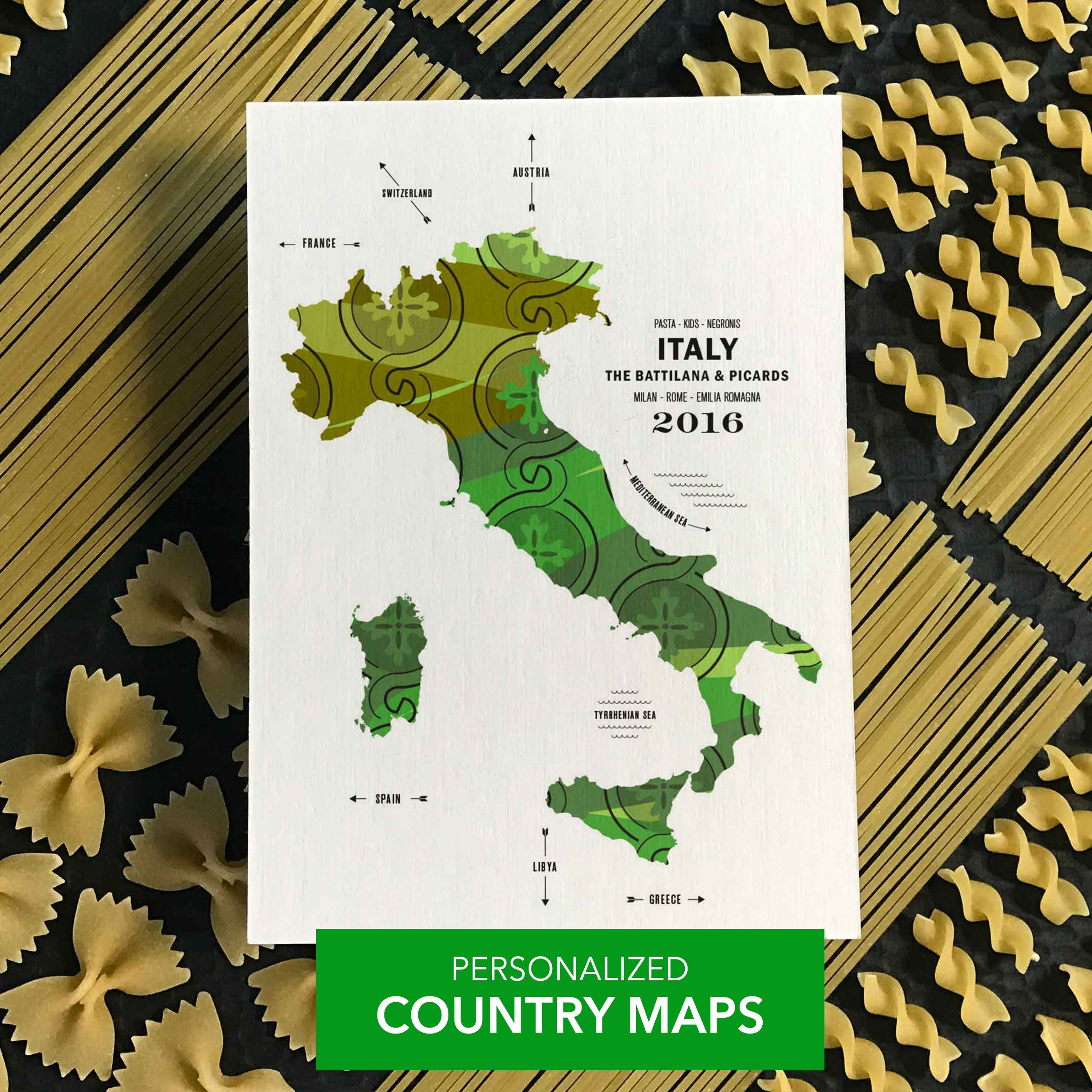 COUNTRY MAP PRINTS