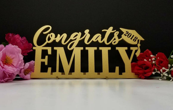 Custom Graduation Sign 12x6 inches