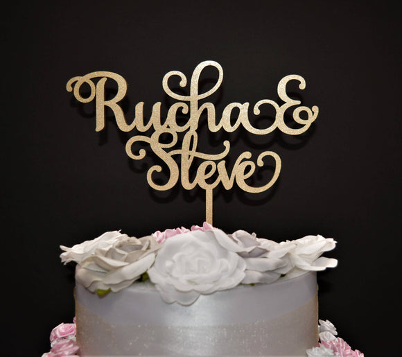 Personalized Wedding Cake topper / Custom Name Wedding Cake Topper / Wood Wedding Cake topper / Personalized Name Cake Topper / Wedding Name