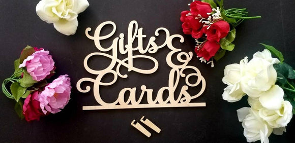 Gifts & cards sign