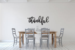 Thankful sign, Thankful Wood Sign, Thankful Wall Decor, Thanksgiving Decor, Thankful Word Sign, Wood Thankful Sign, Thankful Wall Sign decor