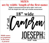 Custom Name Sign, First & Middle Name. Personalized Name Sign, Handwritten Font Personalized Wood Name Sign. Wooden Name Childrens Name sign