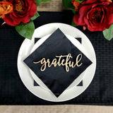 Grateful Place Cards, Grateful sign, Thanksgiving table setting, Holiday Decor  Thanksgiving Place settings, Small Wood Grateful Sign