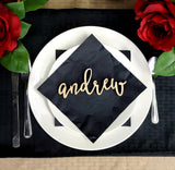Name Place Cards. Wedding Name Place Plates. Wooden Table Names. SMALL name sign. Wedding Name Cards for table settings. Wedding table names