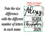 Custom Name Sign, First & Middle Name