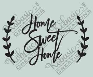 Home Sweet Home cut out file, digital download for laser cutting, vinyl cutting, cnc router cutting