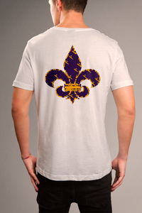 Purple and gold Fleur De Lis T-shirt
