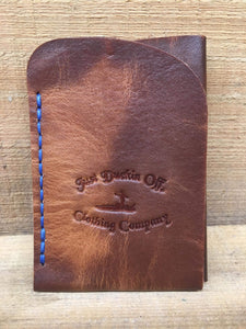 Front Pocket Wallet Blue Stitching