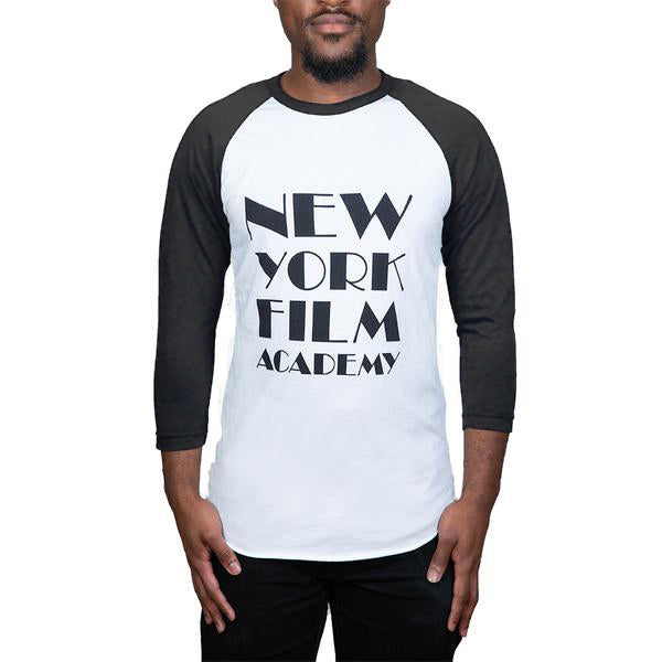 NYFA Baseball Shirt - Heather Black & White