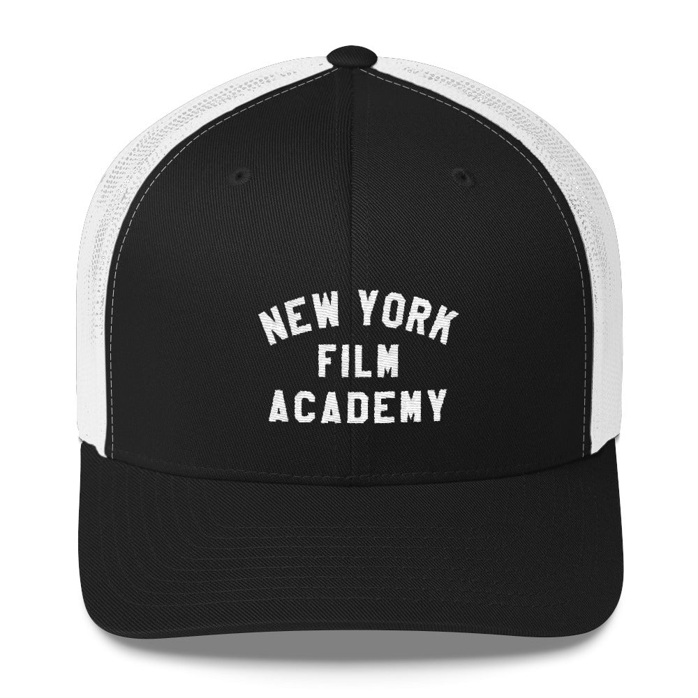 NYFA Retro Trucker Cap - Black & White
