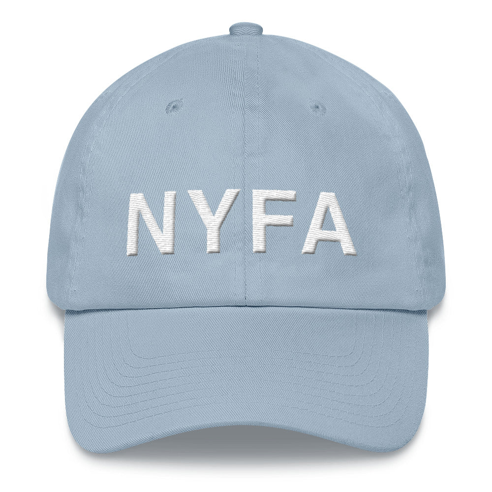 Cap with NYFA Embroidery - Soft Blue & White