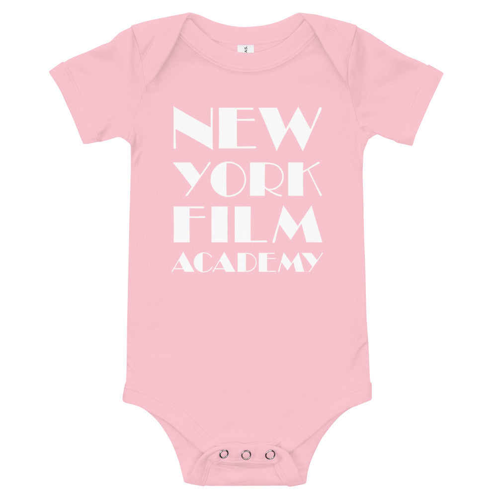 NYFA Infant Short Sleeve Bodysuit in Soft Pink