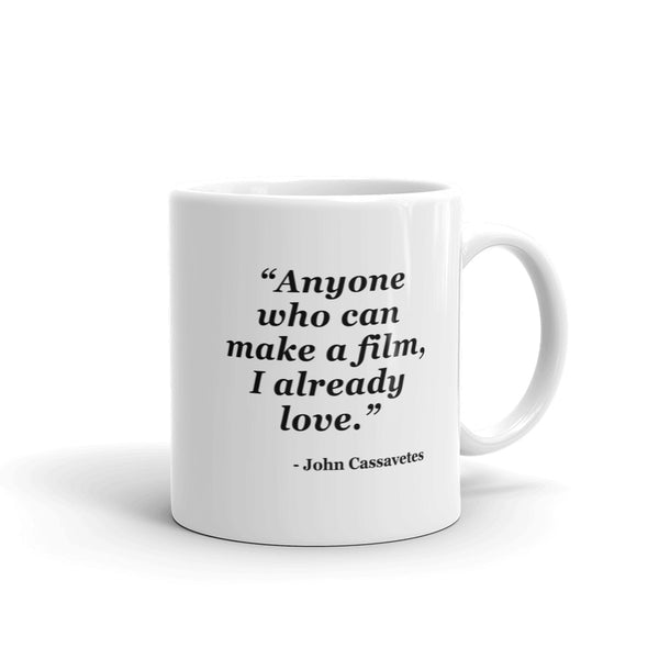 NYFA Mug with John Cassavetes Quote - White