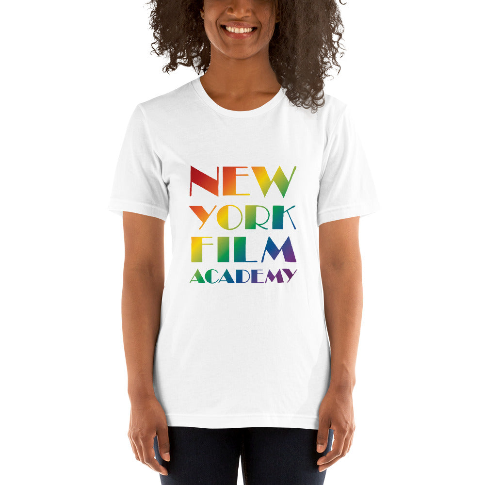 NYFA Pride Month Short-Sleeve T-Shirt - Rainbow Logo - Women's